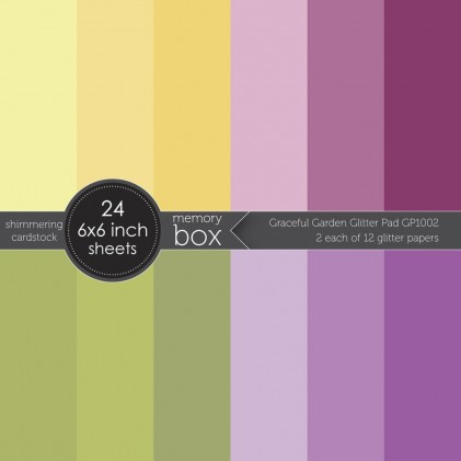 Memory Box Paper Pack 6 x 6 - Graceful Garden Glitter Pad