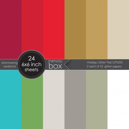 Memory Box Paper Pack 6 x 6 - Holiday Glitter Pad