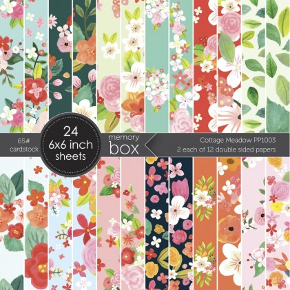 Memory Box Paper Pack 6 x 6 - Cottage Meadow