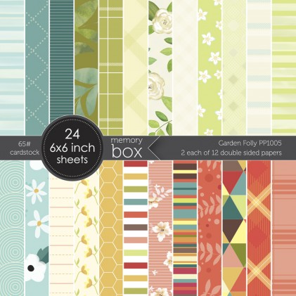 Memory Box Paper Pack 6 x 6 - Garden Folly 6x6 pack