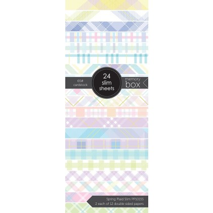 Memory Box Paper Pack 3.5 x 8.5 - Spring Plaid Slim