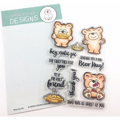 Gerda Steiner Designs Clear Stamps - More than Pie with Cute Bear and Pie