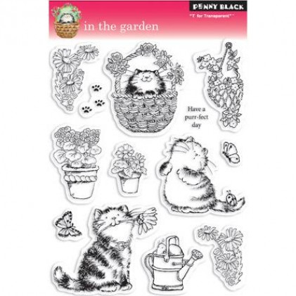 Penny Black Clear Stamps - In The Garden