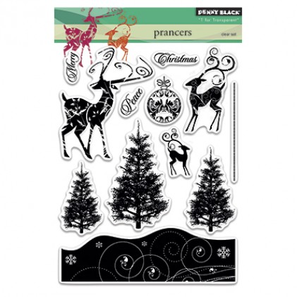 Penny Black Clear Stamps - Prancers