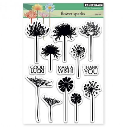 Penny Black Clear Stamps - Flower Sparks