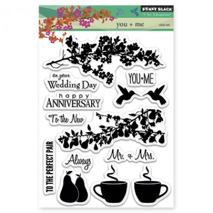 Penny Black Clear Stamps - You + Me