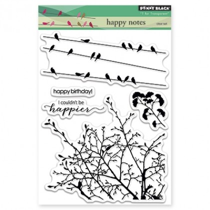 Penny Black Clear Stamps - Happy Notes