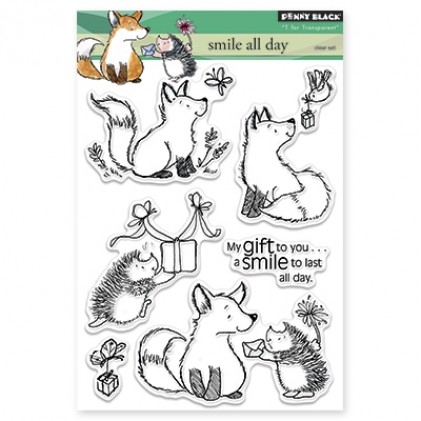 Penny Black Clear Stamps - Smile All Day