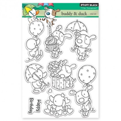 Penny Black Clear Stamps - Buddy & Duck