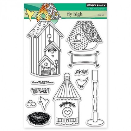 Penny Black Clear Stamps - Fly High