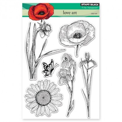 Penny Black Clear Stamps - Love Art