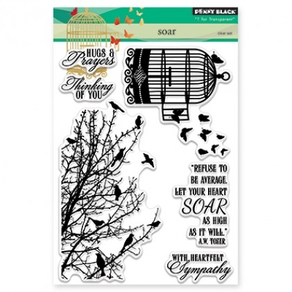 Penny Black Clear Stamps - Soar