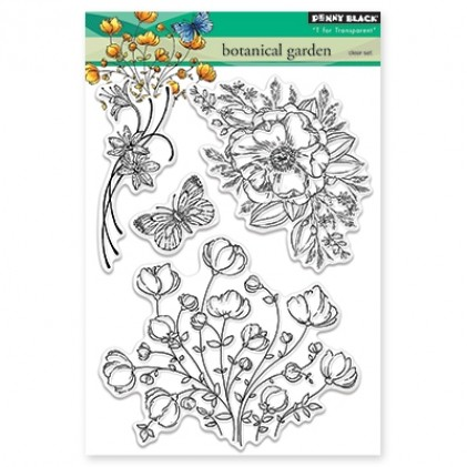 Penny Black Clear Stamps - Botanical Garden