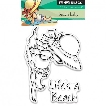 Penny Black Clear Stamps Mini - Beach Baby