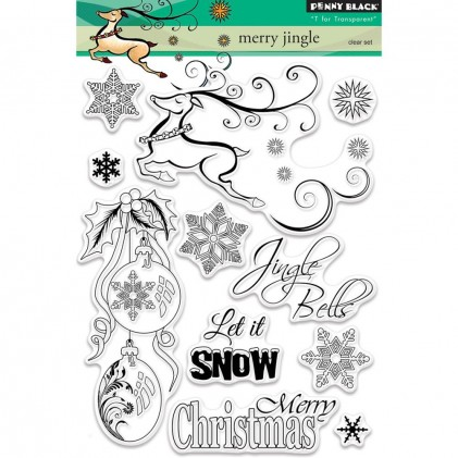 Penny Black Clear Stamps - Merry Jingle