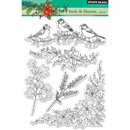 Penny Black Clear Stamps - Birds & Blooms