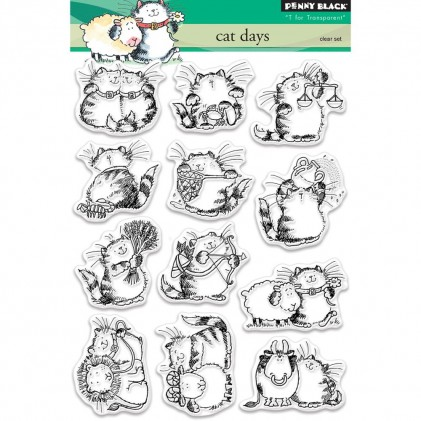 Penny Black Clear Stamps - Cat Days
