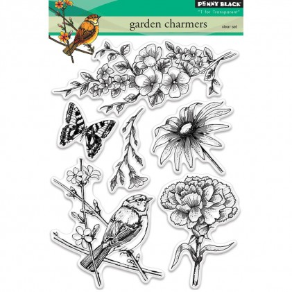 Penny Black Clear Stamps - Garden Charmers