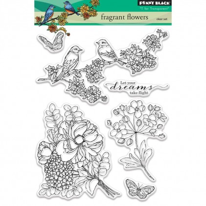 Penny Black Clear Stamps - Fragrant Flowers