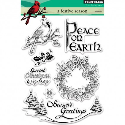 Penny Black Clear Stamps - A Festive Season