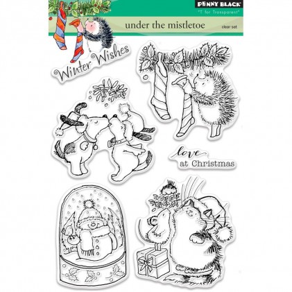 Penny Black Clear Stamps - Under The Mistletoe