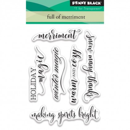 Penny Black Clear Stamps - Full Of Merriment
