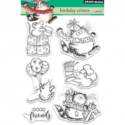 Penny Black Clear Stamps - Birthday Critters