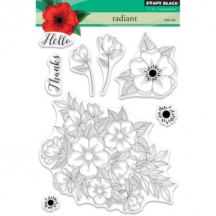 Penny Black Clear Stamps - Radiant - 30% RABATT