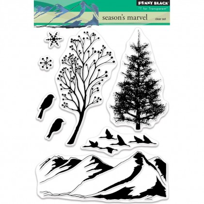 Penny Black Clear Stamps - Season's Marvel