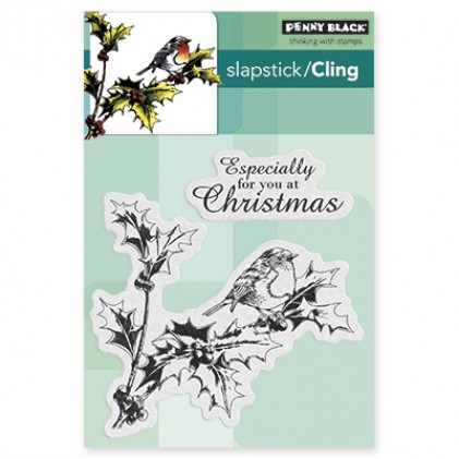 Penny Black Cling Stamps - Holly Tweet