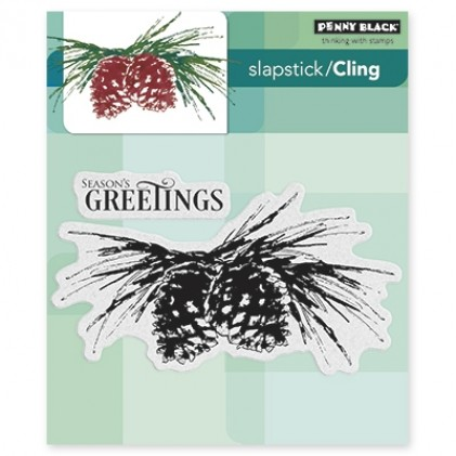 Penny Black Cling Stamps - Brush Pines