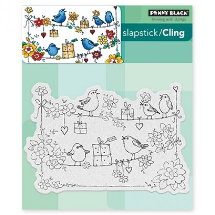 Penny Black Cling Stamps - Cheery Chirps