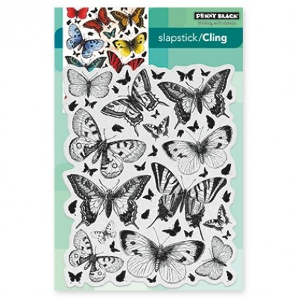 Penny Black Cling Stamps - Butterfly Chamber