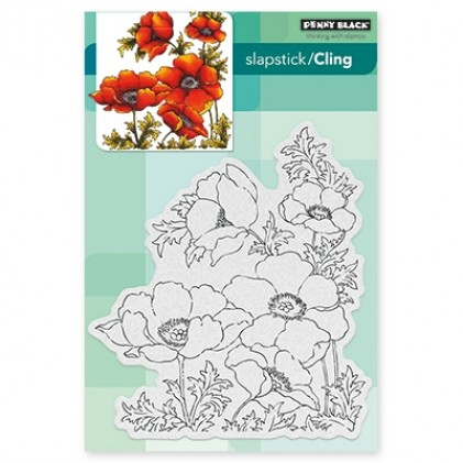 Penny Black Cling Stamps - Poppy Gems