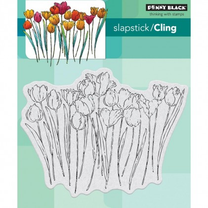 Penny Black Cling Stamps - Tulip Queue