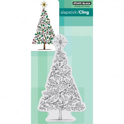 Penny Black Cling Stamps - Tree Of Holly