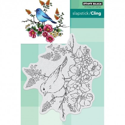 Penny Black Cling Stamps - Flower Perch