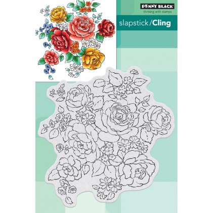 Penny Black Cling Stamps - Floral Medley