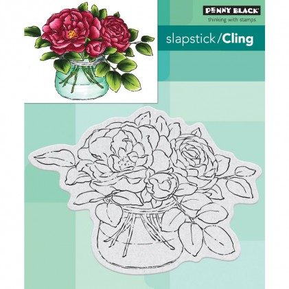 Penny Black Cling Stamps - Rose Bowl
