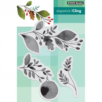 Penny Black Cling Stamps - Xmas Sprig