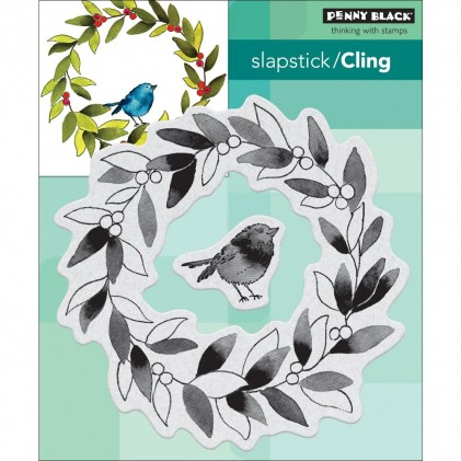 Penny Black Cling Stamps - Tweet Wreath