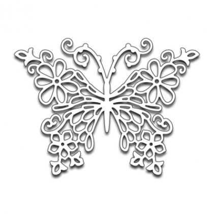 Penny Black Creative Dies Stanzschablone - Floral Butterfly