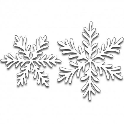 Penny Black Creative Dies Stanzschablone - Snowflake Duo