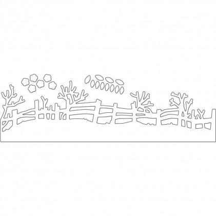 Penny Black Creative Dies Stanzschablone - Rail Fence