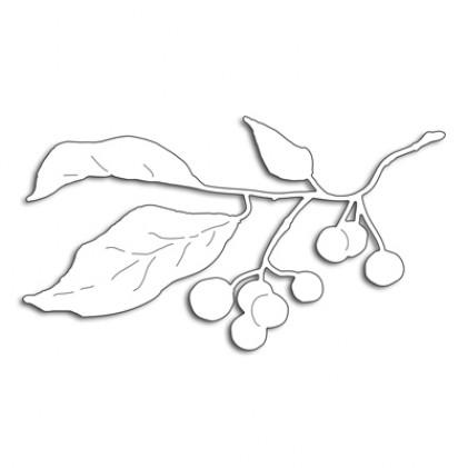 Penny Black Creative Dies Stanzschablone - Winter Berry Branch