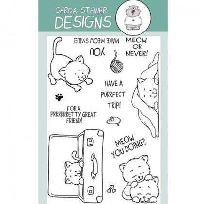 Gerda Steiner Designs Clear Stamps - Playful Kitten