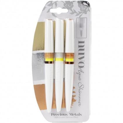 Nuvo Aqua Shimmer Pens 3er Packung - Precious Metals