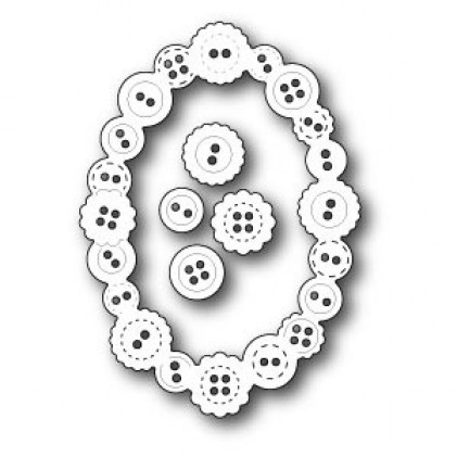 Poppy Stamps Stanzschablone - Button Oval