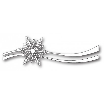 Poppy Stamps Stanzschablone - Snowflake Ribbon