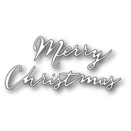 Poppy Stamps Stanzschablone - Free Hand Merry Christmas